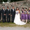 Bridal party, Rustic wedding
