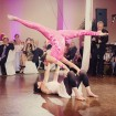 Aerial dancers, Cirque themed wedding