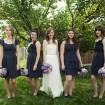 Bridal party, Garden wedding