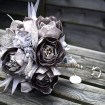 Brooch, Silk Flowers, Beading