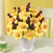 Cut up fruit bouquet