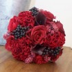 Berries and silk flowers bouquet