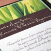 Invitation, Backyard wedding