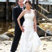 Bride and groom, Beach wedding