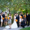 Bridal party, Fall wedding