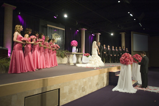 Ceremony, Pink wedding