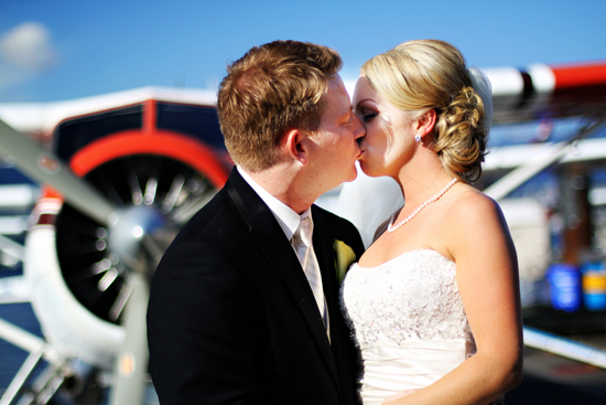 Bride and groom, Travel themed wedding