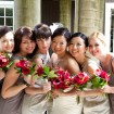 Bridal party, Beach wedding