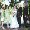 Bridal party, Backyard wedding