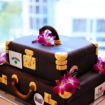 Cake, Travel themed wedding