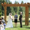 Ceremony, Backyard wedding