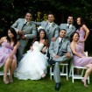 Bridal party, outdoor wedding
