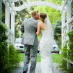 Bride and groom, Garden wedding