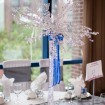 Non-floral centrepiece, Blue wedding