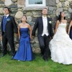 Bridal party, Vineyard wedding