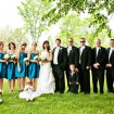 Bridal party, Blue wedding