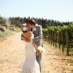Bride and groom, vineyard wedding