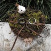 Personalized nest with bird