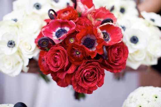 Red Haute Wedding Accents