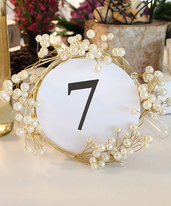 Gold Table Numbers Wedding Star | Weddingbells.