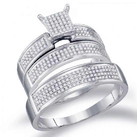 For something a bit more modern, opt for this white gold and diamond ...