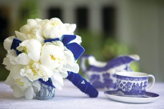Blue and White Wedding Accents
