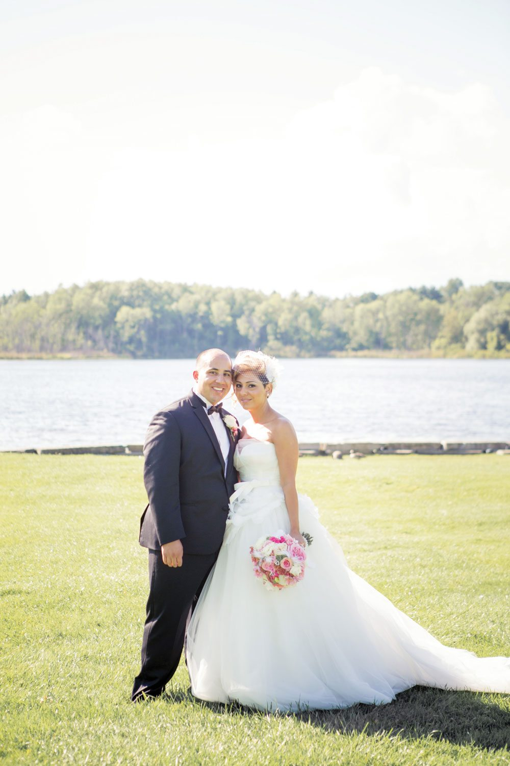 A Black and Pink Hollywood Glamour Wedding in Caledon, Ontario