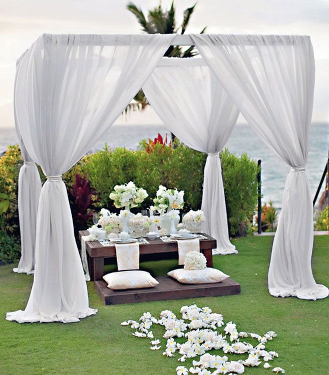 Garden Wedding Ideas intimate evening garden wedding 28 Outdoor Wedding Decoration Ideas Weddingbells