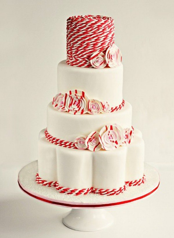 Red Colour Cake Images : Wedding Cakes To Fit Your Colour Scheme Weddingbells