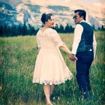 A 1950's-Themed Wedding in Canmore, Alberta