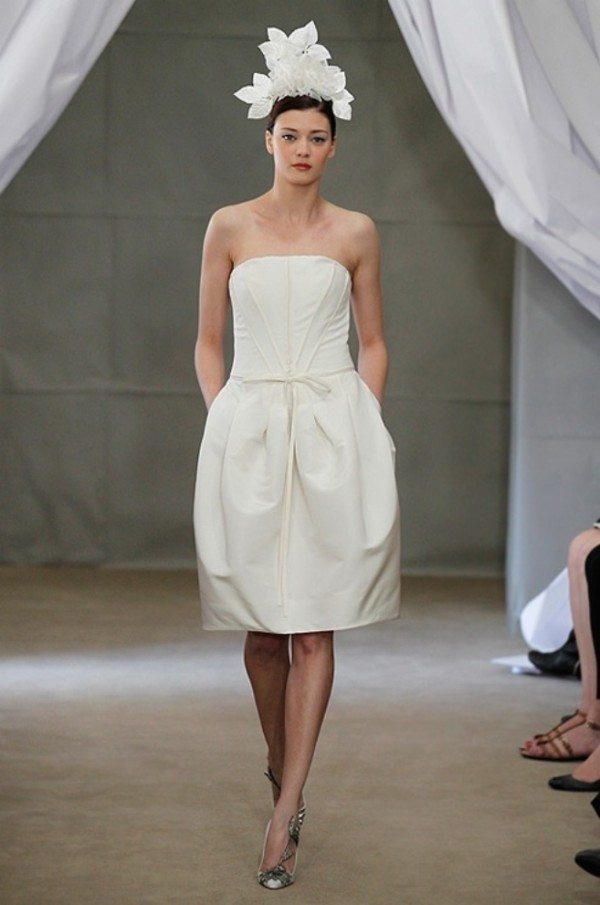 short wedding dresses carolina herrera weddingbells