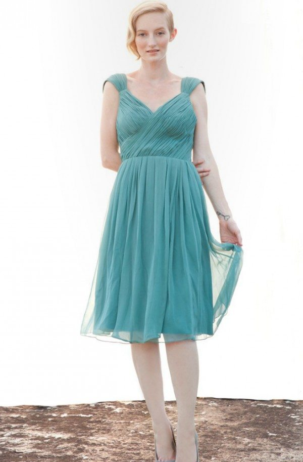 Bridesmaid dresses in the most popular wedding colours of for Teal dress for wedding