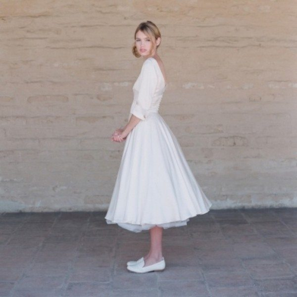 Wedding Dresses With Flats : Short wedding dresses stylish options for your day