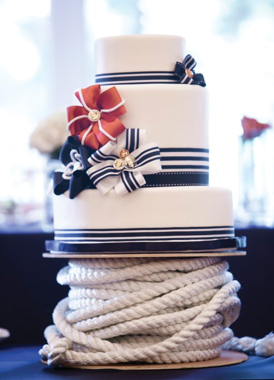 Beach Wedding Ideas: nautical wedding cake