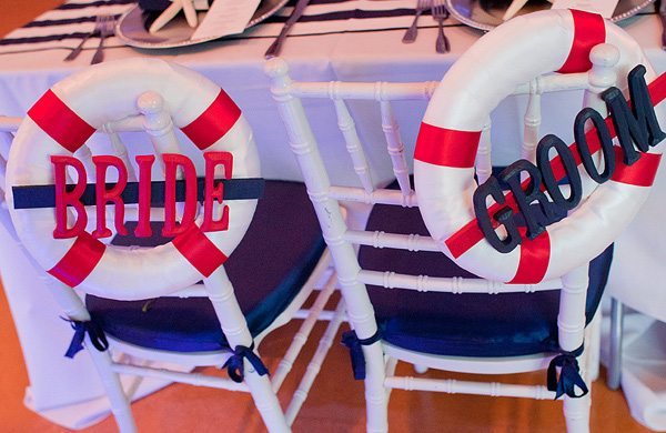 Beach Wedding Ideas: nautical chair decor