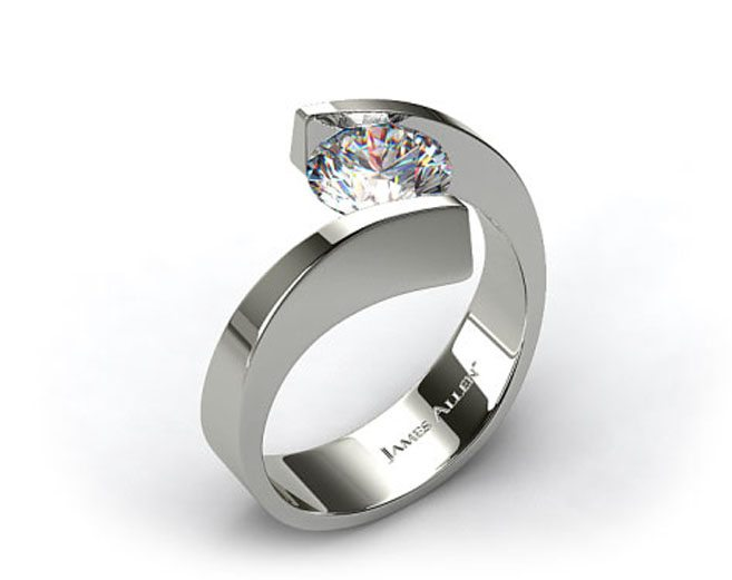 stone designer engagement ring rings product cut modern three puregemsjewels diamonds made man round