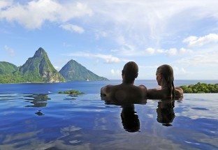 Beach Honeymoon: Jade Mountain