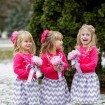 Chevron Flower Girl Dresses