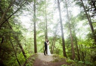 A Romantic Hilltop Wedding in Ontario Bride and Groom