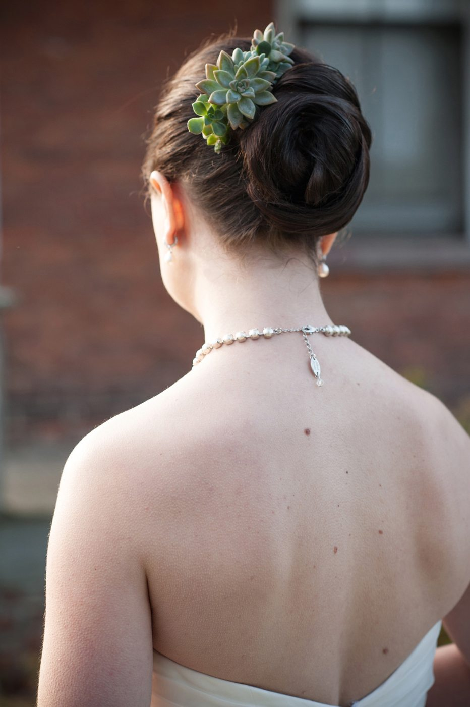 A Sophisticated Autumn Wedding Bride's Updo