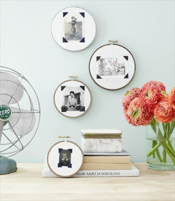 Displayed In This Embroidery Hoop Is A Fantastic: Creative Photo Display Ideas For Your Wedding