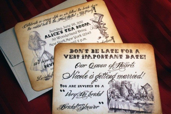Alice In Wonderland Save-The-Date