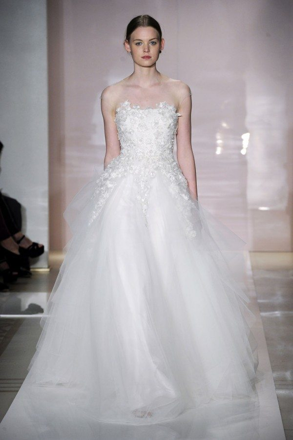 Reem Acra Fall 2014 Wedding Dresses Acra is known for her