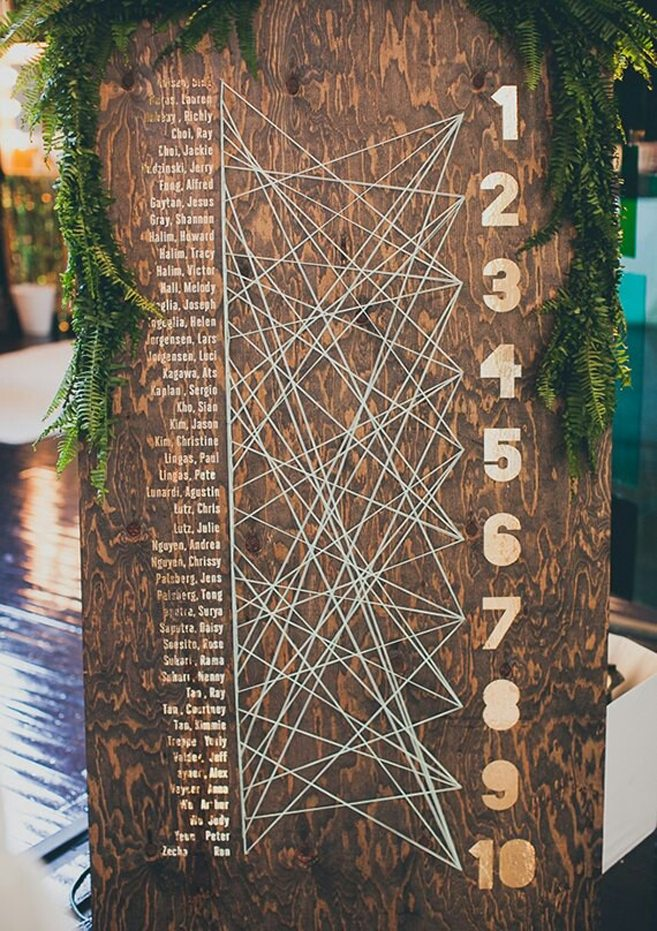 10 Unique Seating Chart Ideas Your Guests Will Love | Weddingbells