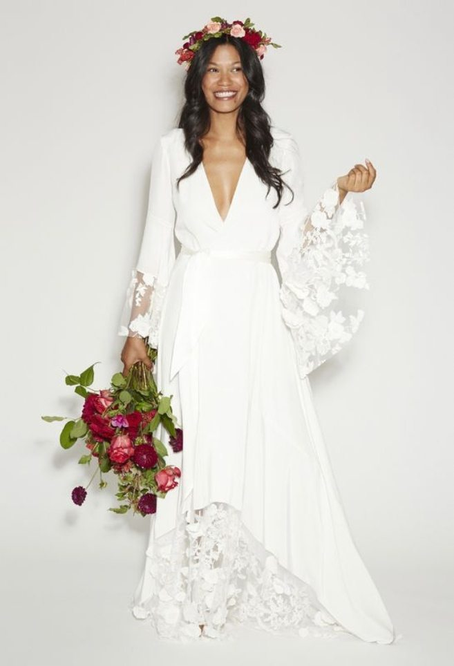 Non traditional wedding dresses that will have you rethinking the non traditional wedding dresses that will have you rethinking the all white look weddingbells junglespirit Choice Image