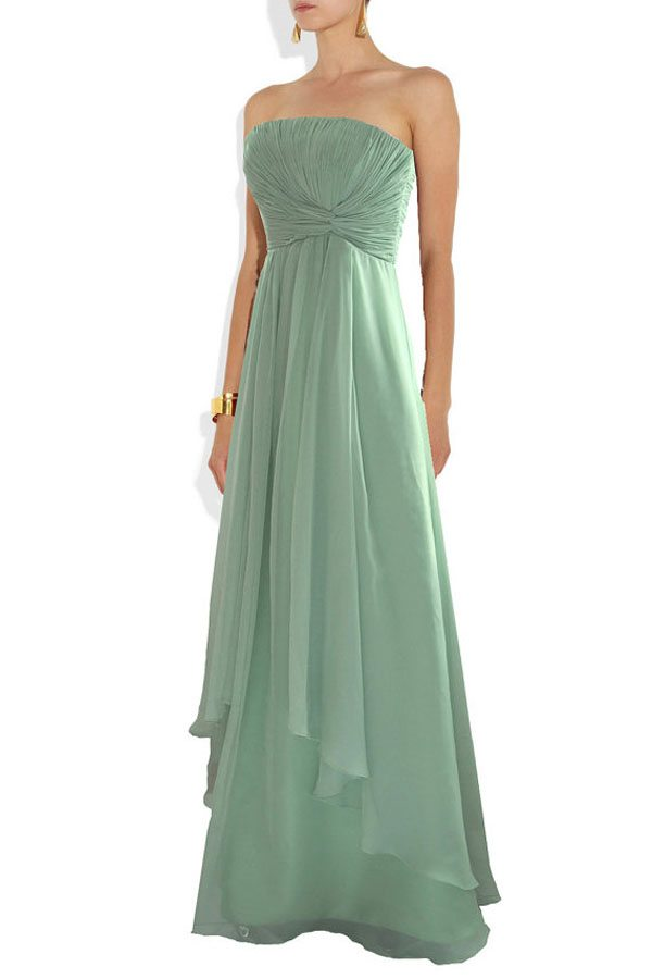 Pastel green bridesmaid dresses the for Pastel green wedding dress