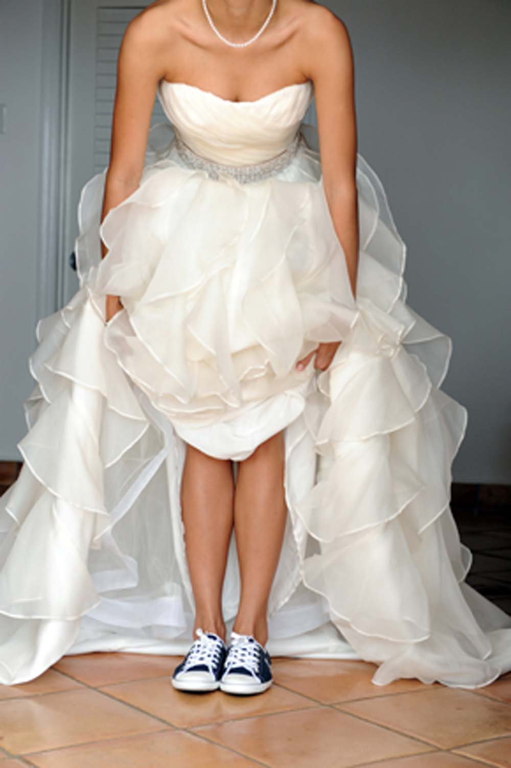 Proof that sneakers can complete a wedding ensemble weddingbells ombrellifo Images