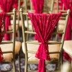 whimsical red wedding - ceremony decor
