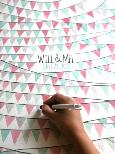 guest book idea - bunting poster