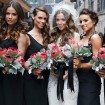 Modern Red Black Wedding - bridesmaids